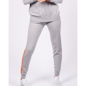 Cavells Contrast Stripe Jogger in Grey/Orange