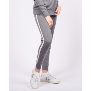 Cavells Contrast Stripe Jogger in Charcoal/Light Pink