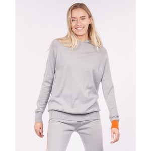 Cavells Contrast Cuff Lounge Hood in Grey/Orange