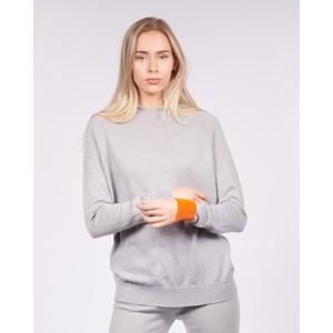 Cavells Contrast Cuff Lounge Hood Grey/Orange
