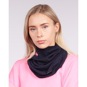 Cavells Merino Cowl in Dark Navy/Bright Pink