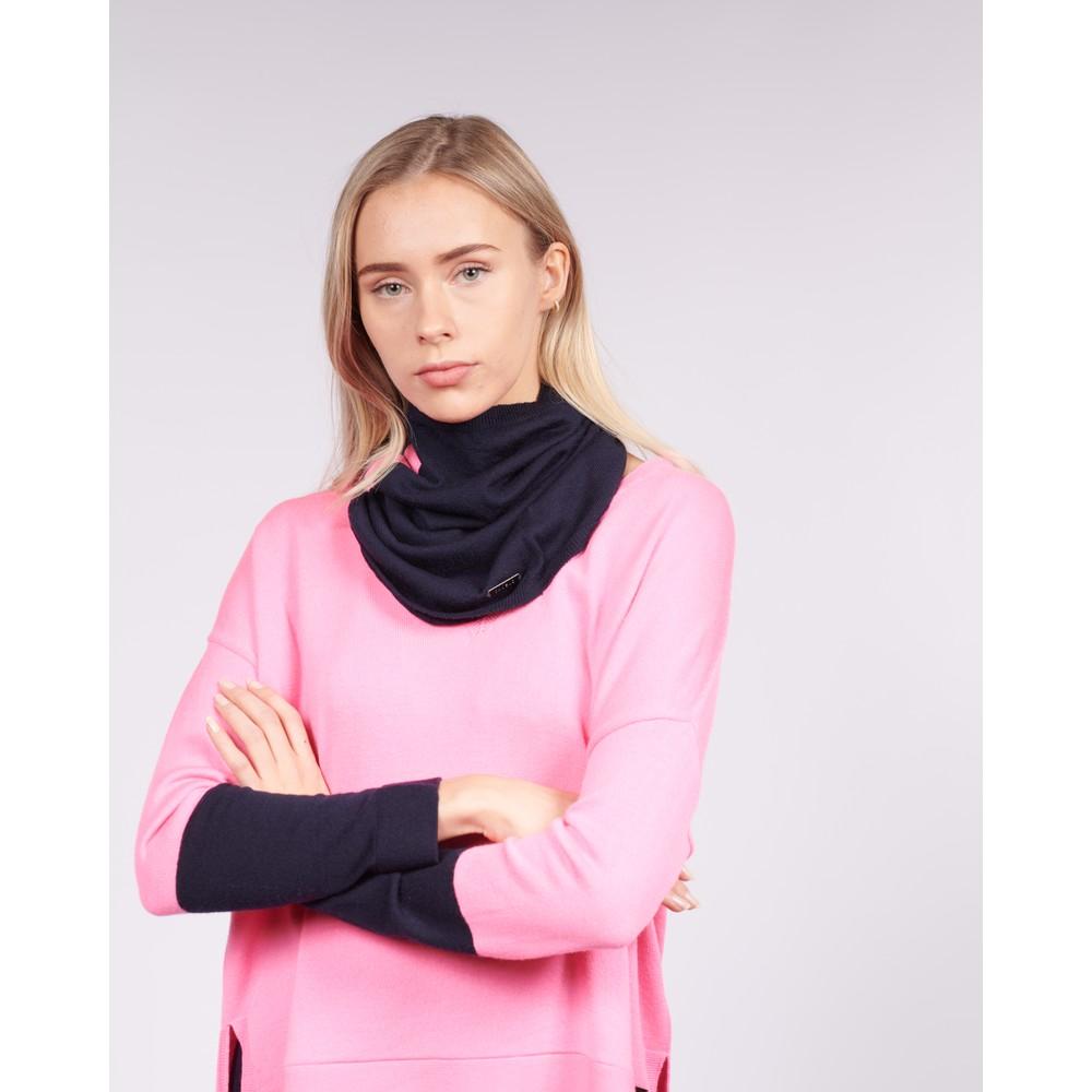 Cavells Merino Cowl Dark Navy/Bright Pink