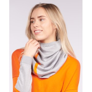 Merino Cowl Grey/Orange