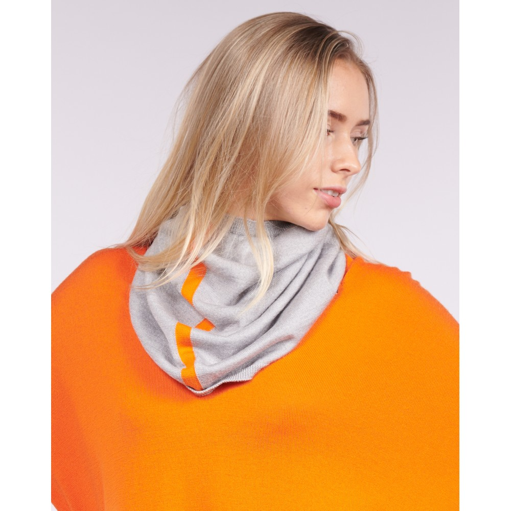 Cavells Merino Cowl Grey/Orange