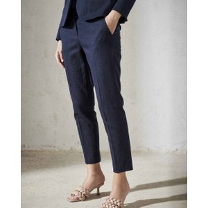 Denim Look Tailored Trousers Deep Blue