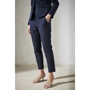 Luisa Cerano Denim Look Tailored Trousers Deep Blue