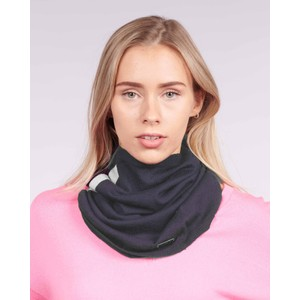 Cavells Merino Cowl in Navy/Grey