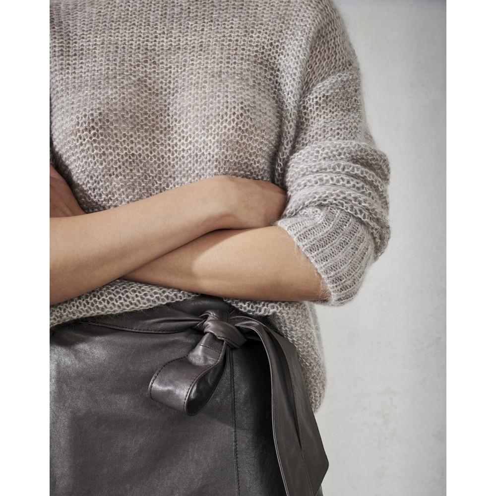 Luisa Cerano Loose Knit R/N Jumper Powder Grey