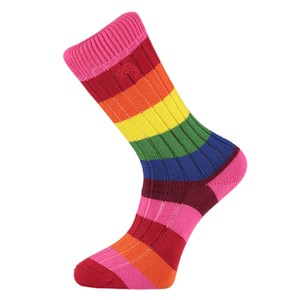 Weekend Stripe Sock Rainbow