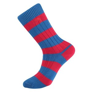 Weekend Stripe Sock Blue/Red