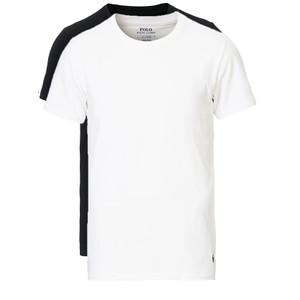 2Pk Short Sleeve Crew Cotton Stretch Polo Black/White