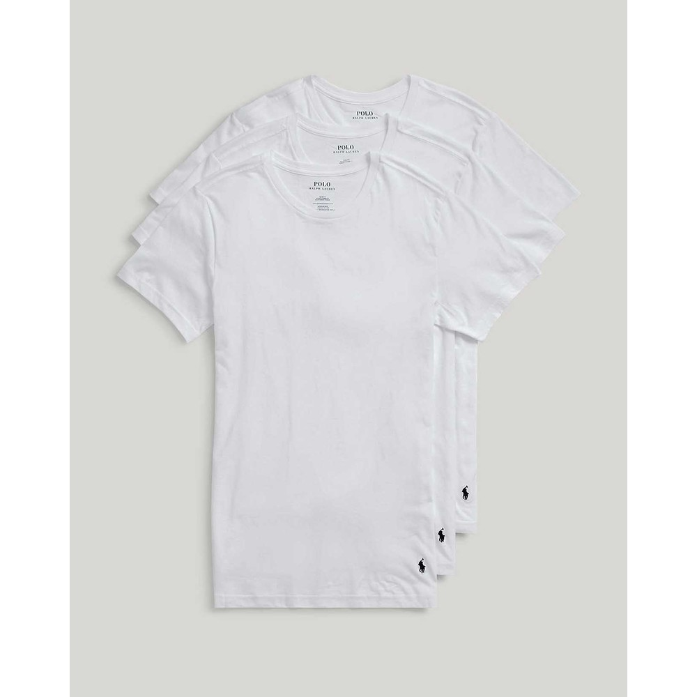 Polo Ralph Lauren 3Pk S/S Crew Neck T Shirts White