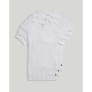 3Pk S/S Crew Neck T Shirts White