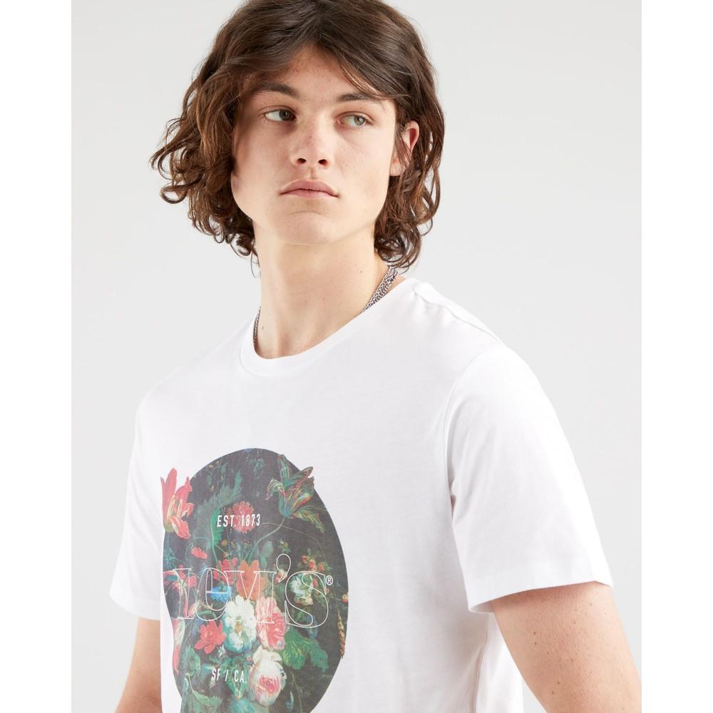 Levis Graphic Crew Neck Tee White/Floral Graphic