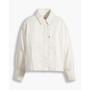 Zoey Pleat Utility Shirt Ecru Crew