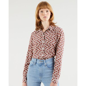 The Classic Shirt Small Folksy Floral Grey