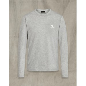 Belstaff L/S T Shirt Grey Melange