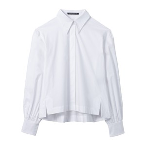 Balloon Sleeve Boxy Shirt White