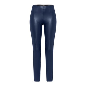 Faux Leather Skinny Trouser Deep Blue