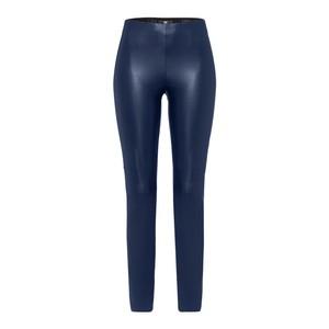Riani Faux Leather Skinny Trouser Deep Blue
