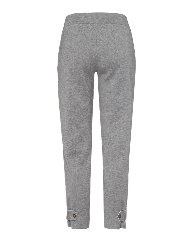 Riani Raw Edge Btn Cuff Trousers Busy Grey