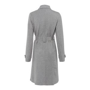 Riani Dbl Breasted Raw Edge Coat Busy Grey