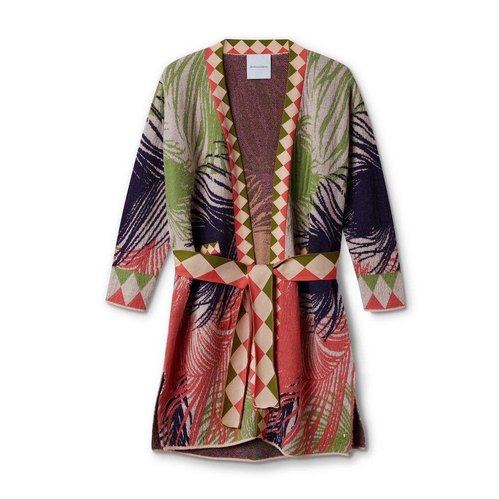 Delicate Love Ida Feather Belted Cardi Fairy