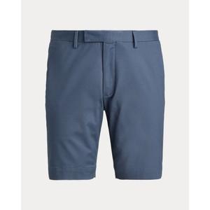 Flat Front Slim Fit Shorts Blue Corsair