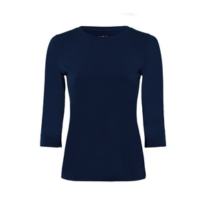 3/4 Sleeve Jersey T Shirt Deep Blue