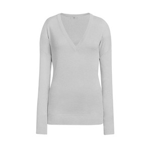 V/N Woolsilk Cashmere Jumper Busy Grey