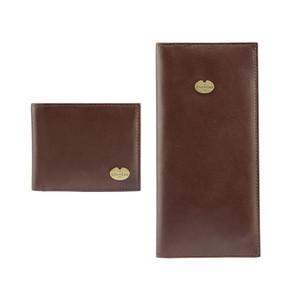 B/F & Licence Wallet Gift Set Marron Foncé