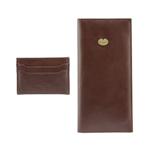 Licence & Card Wallet Gift Set Marron Foncé