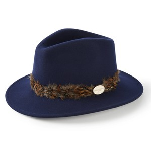 Suffolk Fedora Pheasant Wrap Navy