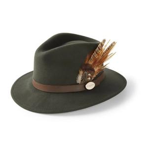Suffolk Fedora Gamebird Feather Olive Green