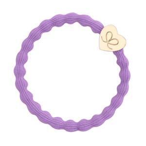 Gold Heart Bangle Bands  Lilac
