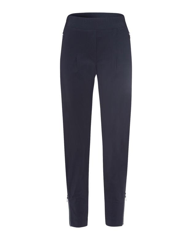 Riani Zip Detail Slim Trousers Deep Blue