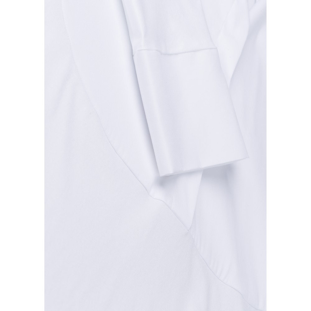 Riani Cotton Panel Shirt Tunic Top White