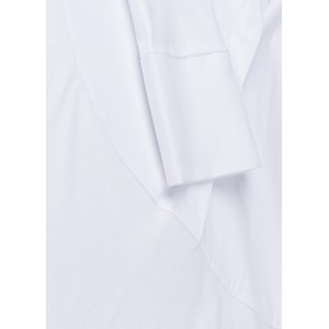 Cotton Panel Shirt Tunic Top White