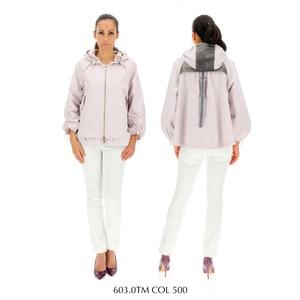 Diego M Con Cappuccio Jacket Lilac