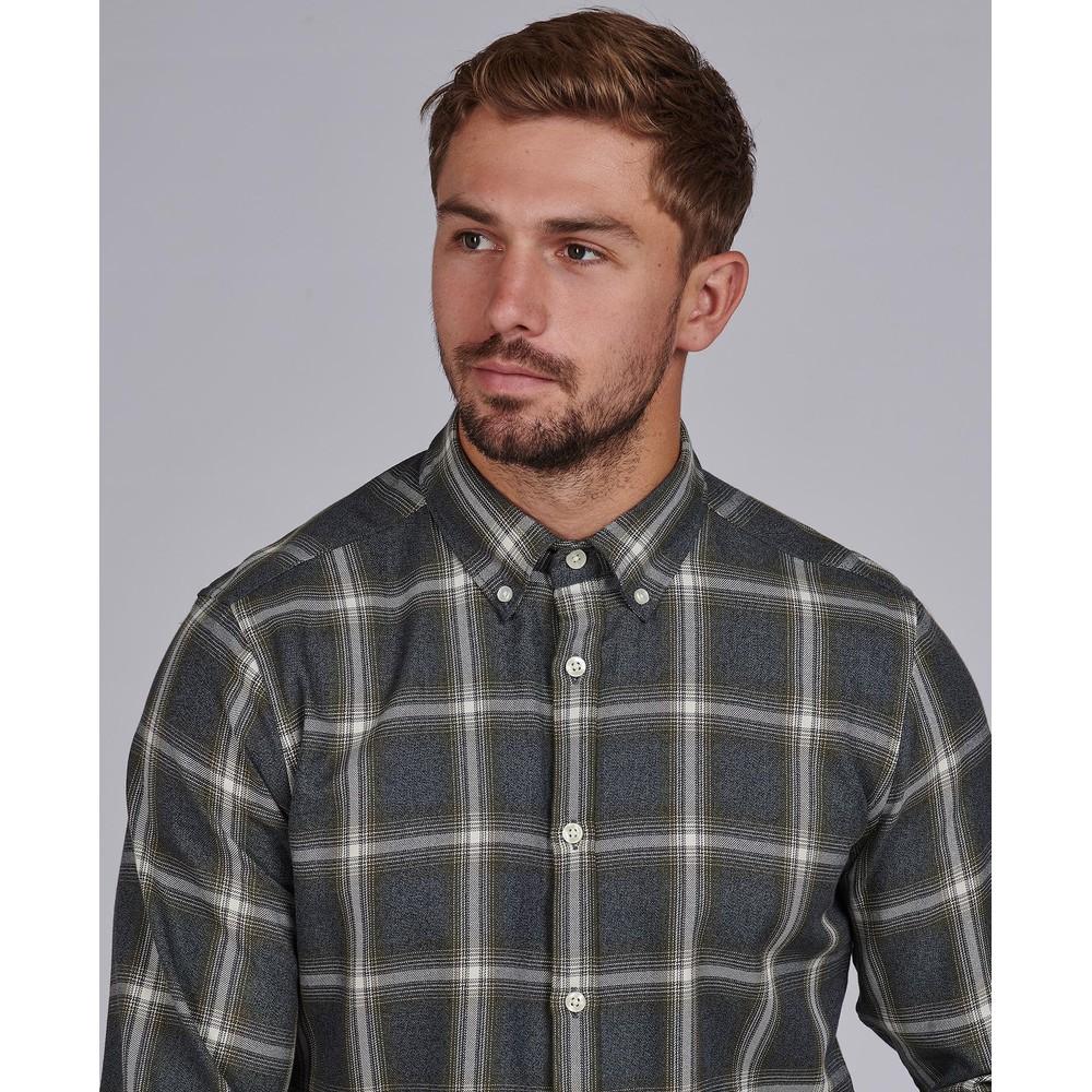 Barbour International Steve McQueen Holman Shirt Light Moss