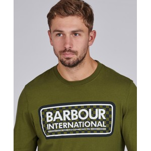 Barbour International Grid Logo L/S Tee Vintage Green
