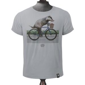 Biker Badger T Shirt Highrise Grey