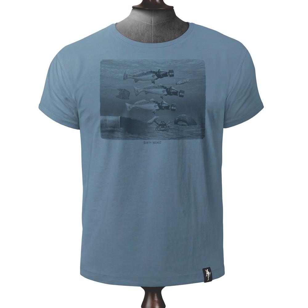 Dirty Velvet Seasick T Shirt Noble Blue