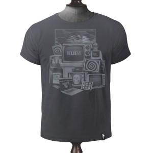 Screen Worship T Shirt Charcoal