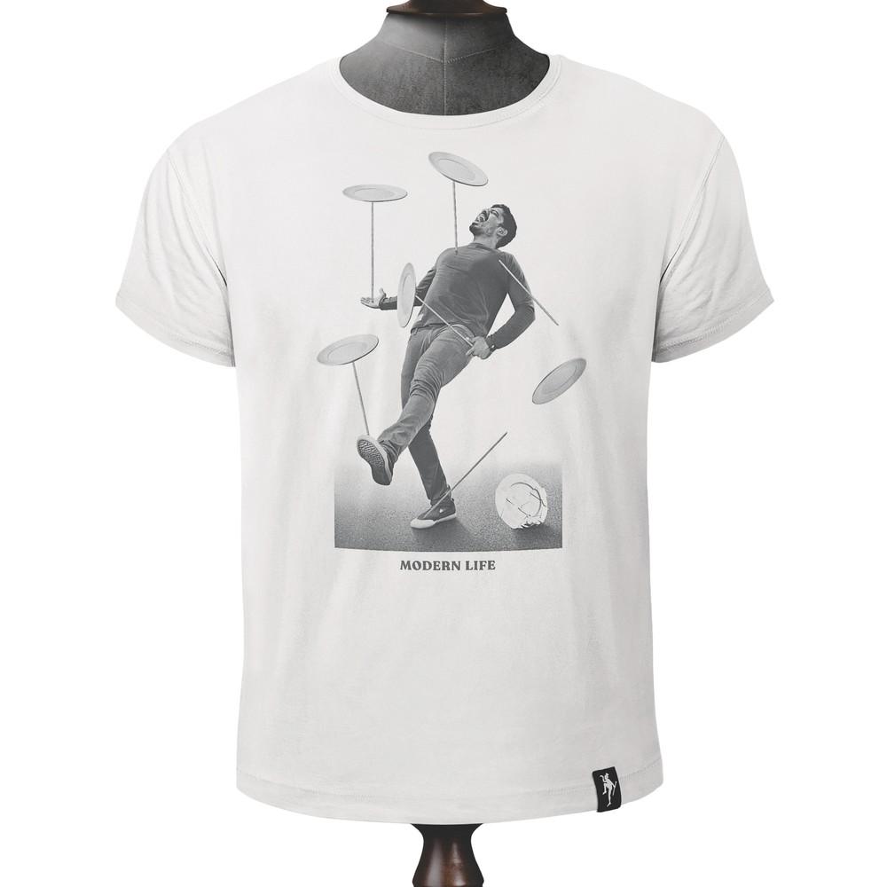 Dirty Velvet Spinning Plates T Shirt Vintage White