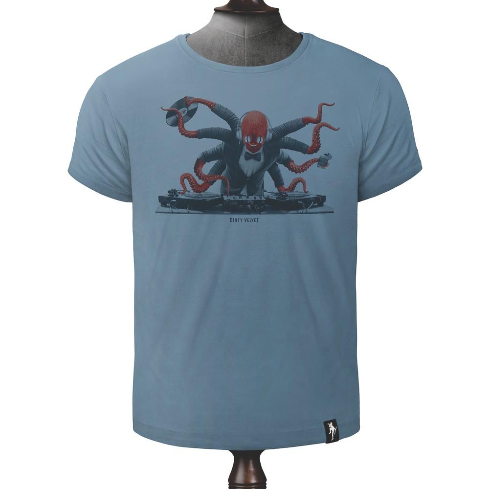 Dirty Velvet Octo DJ T Shirt Noble Blue