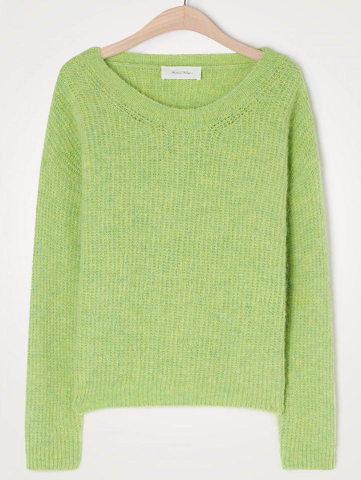 American Vintage East R/Nk Knit Sweater Chrysalis Melange
