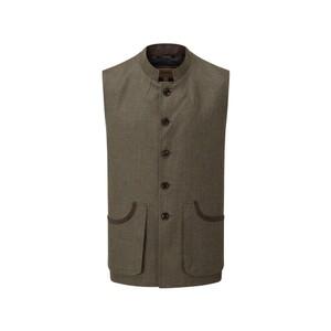 Holcot Tweed Waistcoat Loden Green H/Bone Tweed