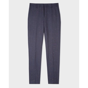 Paul Smith Womens Flecked Wool-Blend Trouser Navy