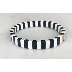 Black & White Goals Bracelet Black/White
